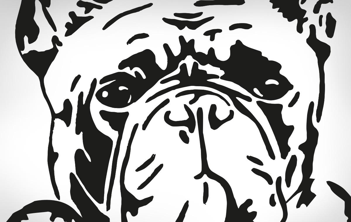 Bulldoge für Logodesign