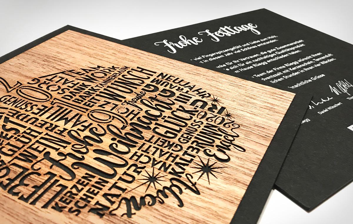 Holz-Karte
