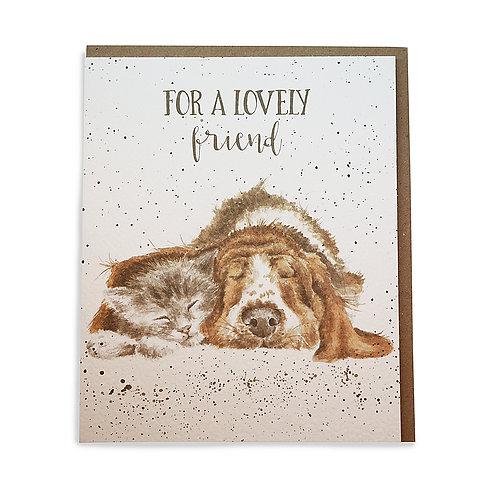 "Karte Hund & Katze ""For a lovely friend"""