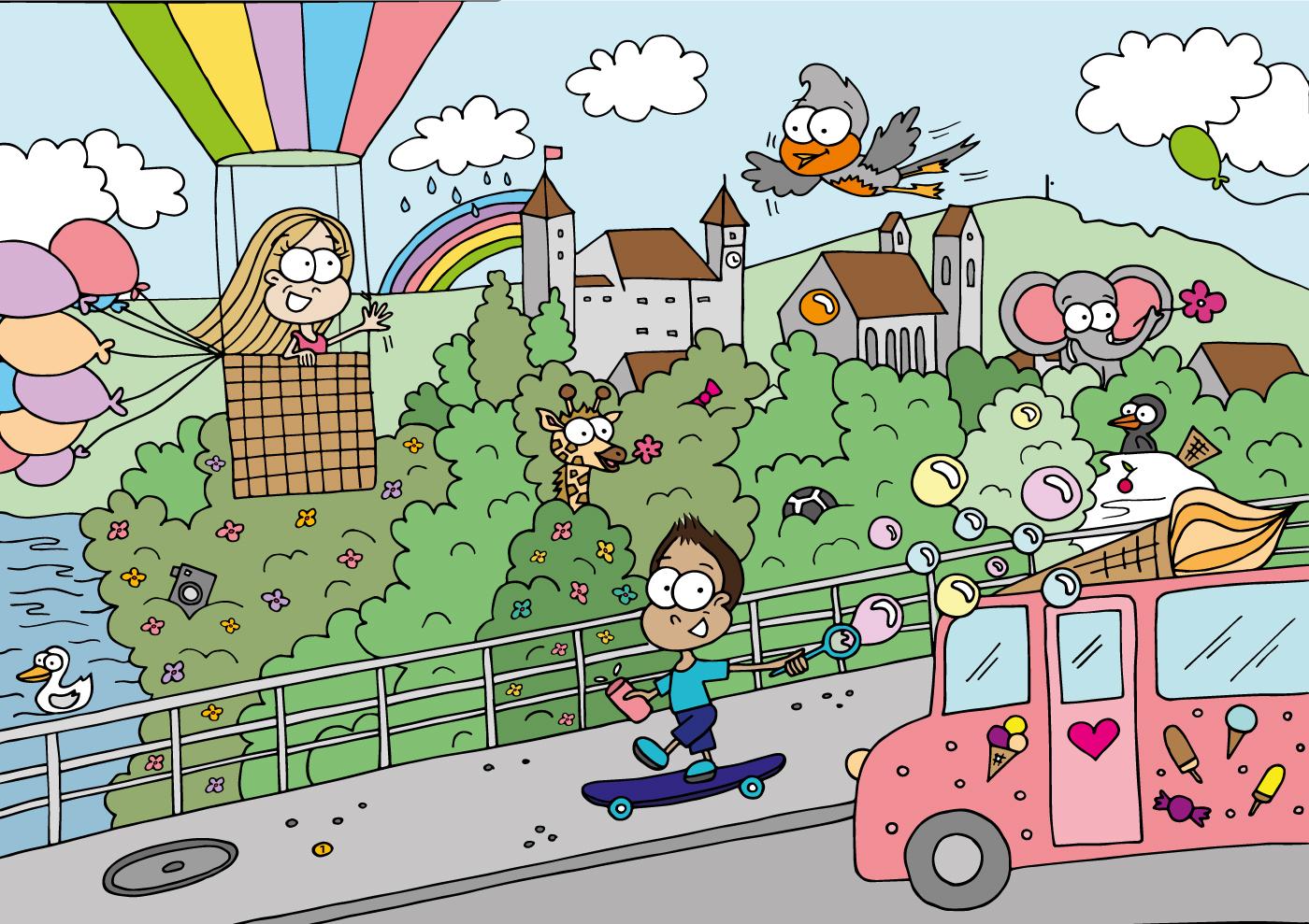 Kinderbuch-Illustration