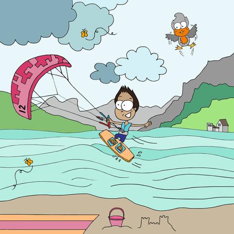 Kiten am Walensee