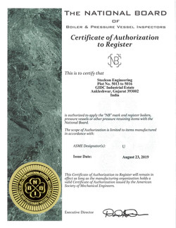 'NB' Certificate of Authorization