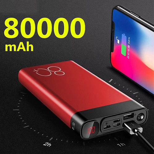 Portable 80,000mAh Quick Charge Power Bank. Any Device!