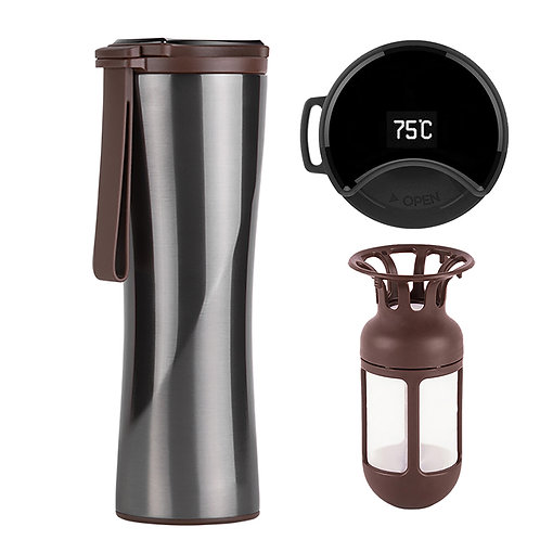 Coffee Smart  Touch Temperature Display Sports Cup.