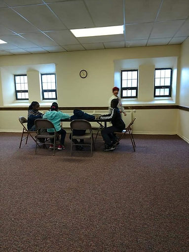 A.N.F. students doing work during afterschool program