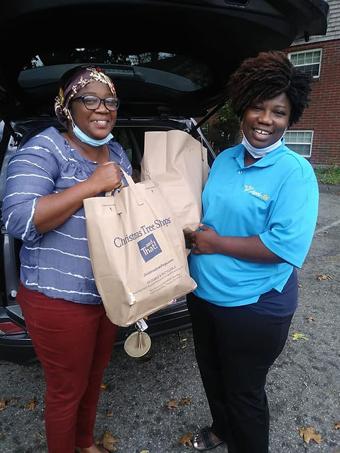 A.N.F. members bringing food to immigrants and refugees