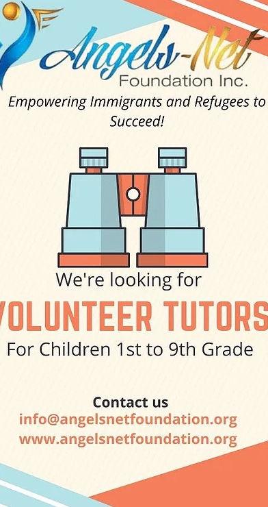 Volunteer Tutors Flyer
