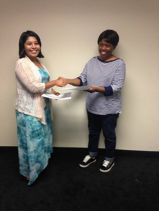 A.N.F. awarding community member certificate