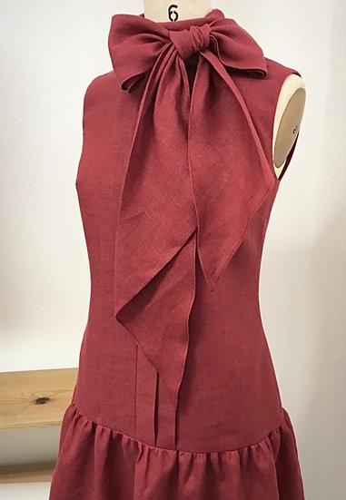 The Pleated Swann Dress