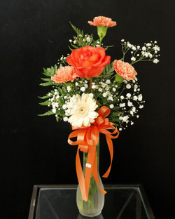 Single Rose and Carnations