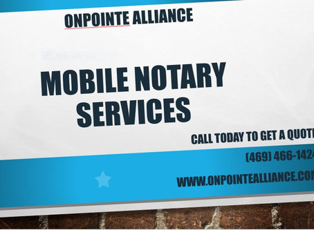 Mobile Notary Services Available Now!!!