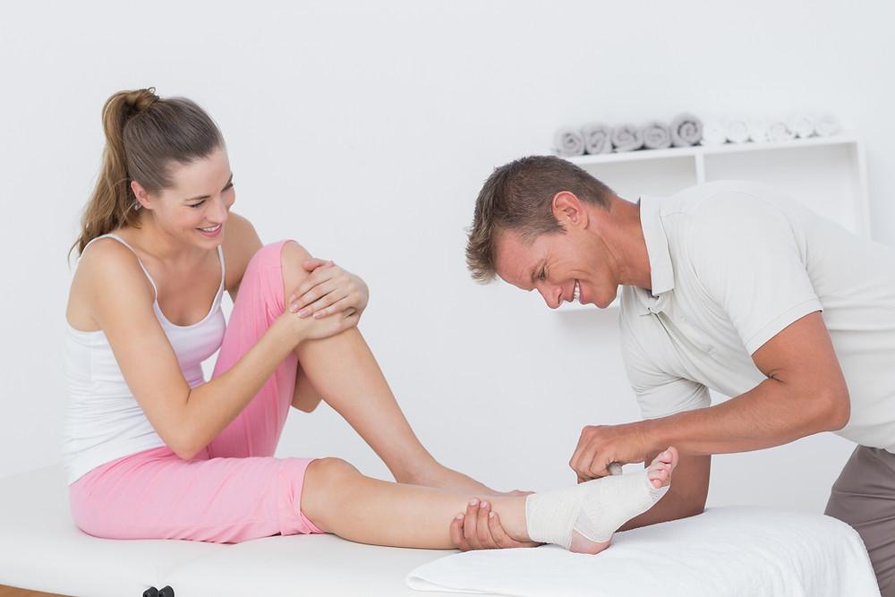 Conseils d'un physio du physiothérapeute Denis Fortier sur l'entorse à la cheville
