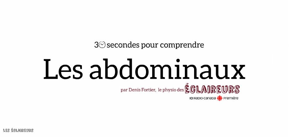 Conseils d'un physio: les abdominaux
