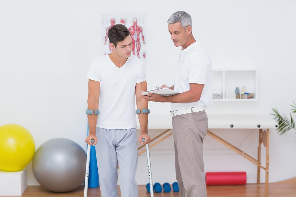 La réadaptation physique et les conseils du physiothérapeutes Denis Fortier