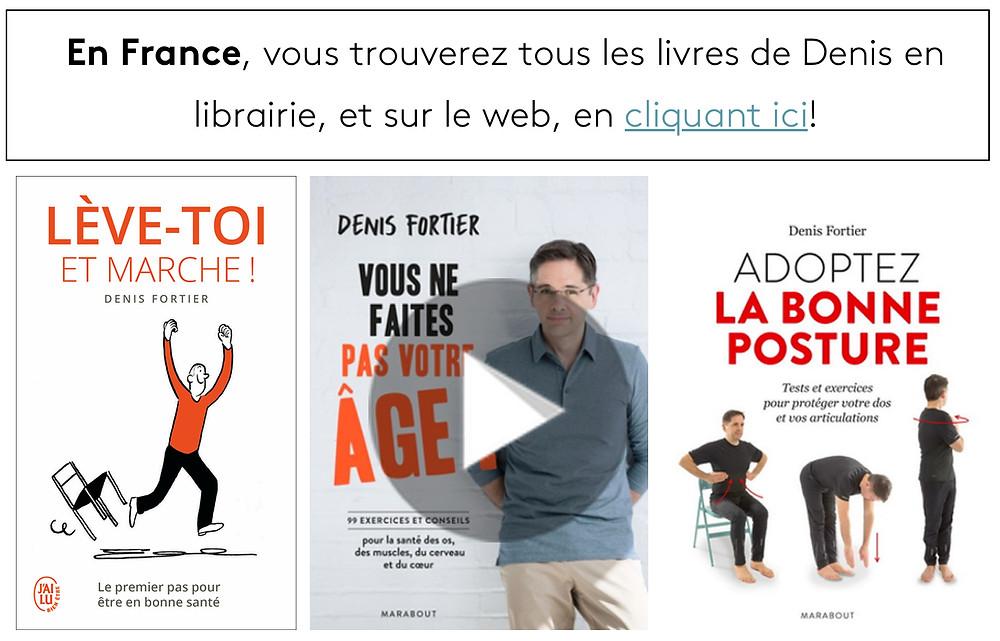La physiothérapie et les livres de Denis Fortier: soulager la douleur et prévenir les effets du vieillissement