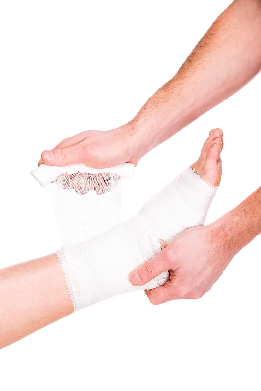 Conseils du physiothérapeute Denis Fortier sur l'application d'un bandage élastique à des fins thérapeutiques