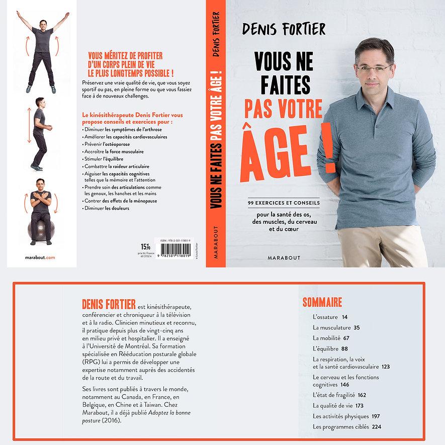 Le nouveau livre de Denis Fortier, publié chez Marabout, VOUS NE FAITES PAS VOTRE ÂGE!