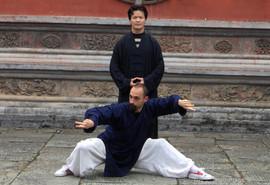 Ismet Himmet with his Teacher Tang Li Long from Wu Dang Shan
