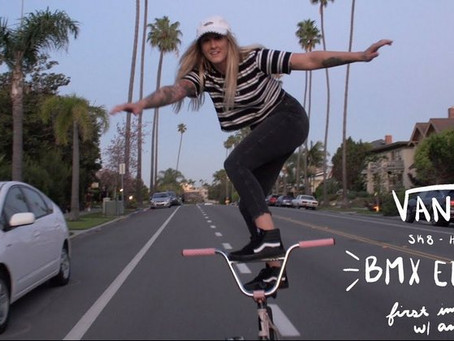 Watch Angie Marino tests out new Vans Sk8-Hi Pro BMX shoes