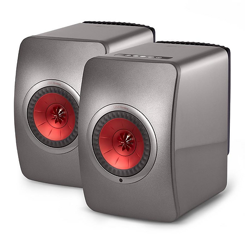 KEF LSX Wireless Speakers Titanium Grey