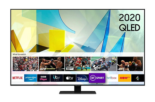 Samsung QE55Q80T-55 inch 4K Ultra HD HDR 1500 Smart QLED TV