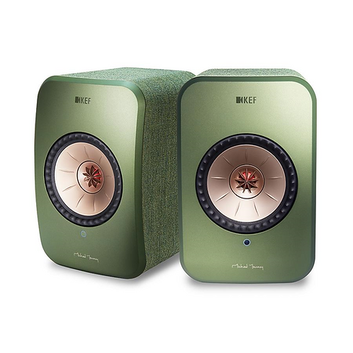 KEF LSX Wireless Music Speakers Olive