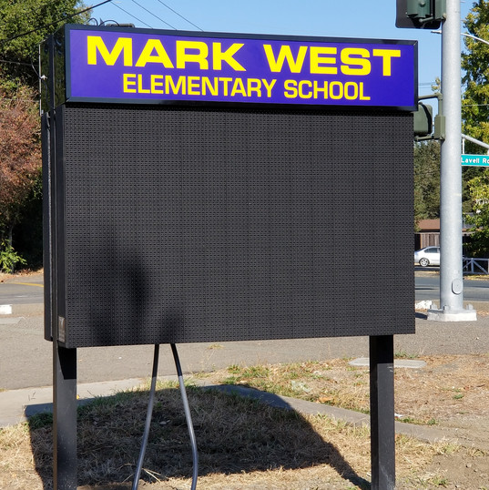 Mark West Elementary School LED Display Sign