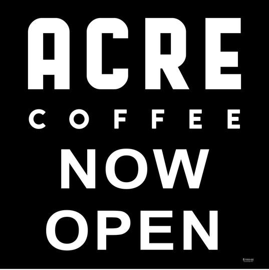Acre Coffee Vinyl Decal