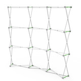8' Curved, Velcro, Fabric Pop-Up Display Frame