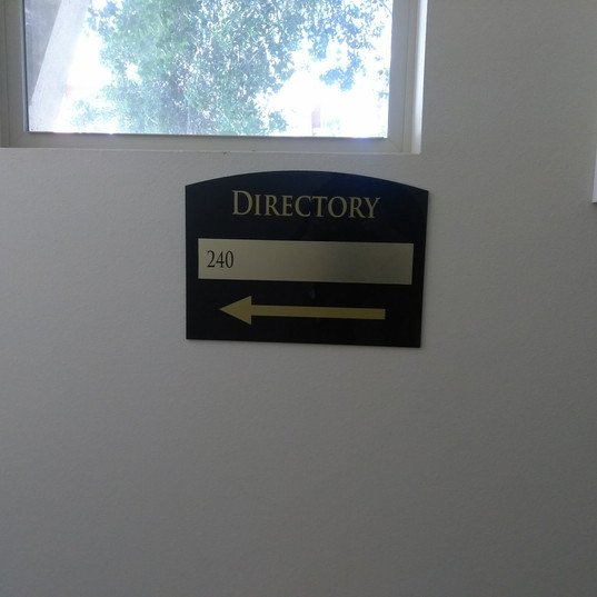 Interior Directory Sign