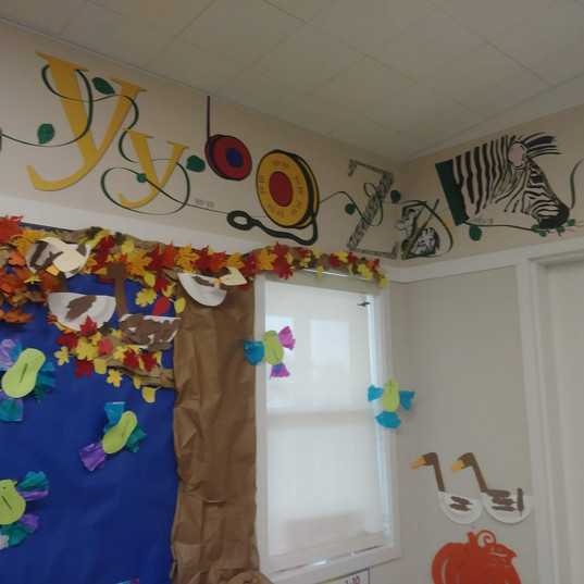 St. Rose Preschool Alphabet Mural