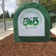 CNC Routed Sign Face with Retrofit LED Lighting