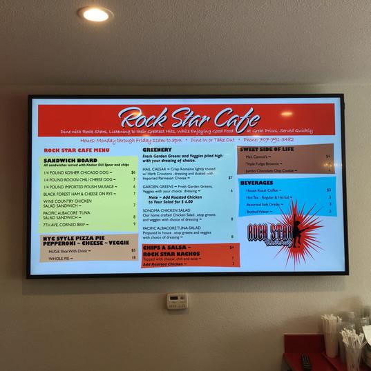 Rock Star University Cafe 65x22 Menu