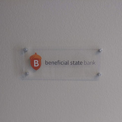 Acrylic Plaque with Vinyl Lettering
