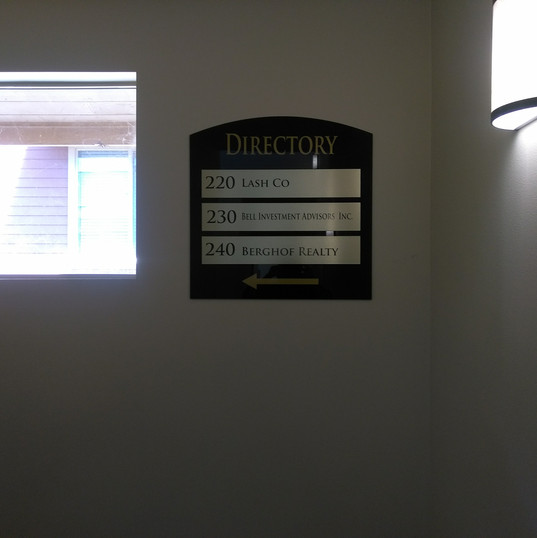 Interior Director Sign
