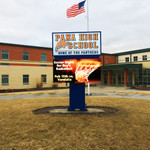 High School Digital Display Marque