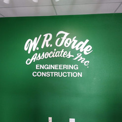 CNC Routed Acrylic Letters in front lobby