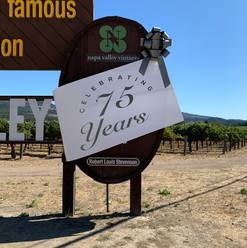 75th Anniversary PVC Banner and Bow added to Napa Valley Sign