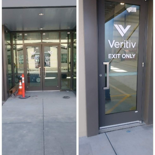 Cut-vinyl for Veritiv Glass Doors