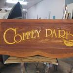 Coffey Park Sandblasted Sign