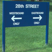 Aluminum Post and Panel Sign