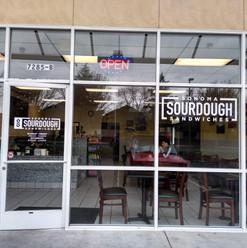 Cut-vinyl Lettering for Sonoma Sourdough Sandwiches