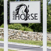 Aluminum Post and Panel Sign with custom sign brackets