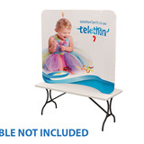6' Curved, Tension Fabric Tabletop Display