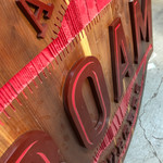 Sandblasted sign with Custom Acrylic Letters