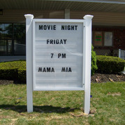 Post and Panel Sign with Changable Letter Board