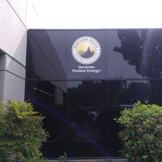 Digitally-printed Graphics for Northern Pacific Power Systems Glass Fascia