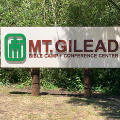 CNC Routed High Density Urethane sign for Mt. Gilead Bible Camp