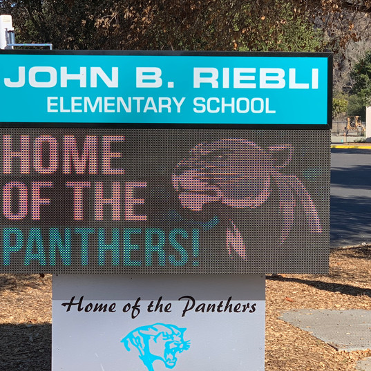 John B. Riebli Elementary School LED Display Monument Sign