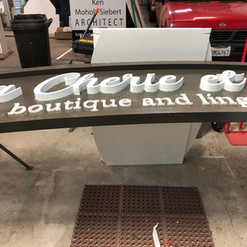 CNC Routed High-Density Urethane (HDU) and CNC routed Acrylic letters